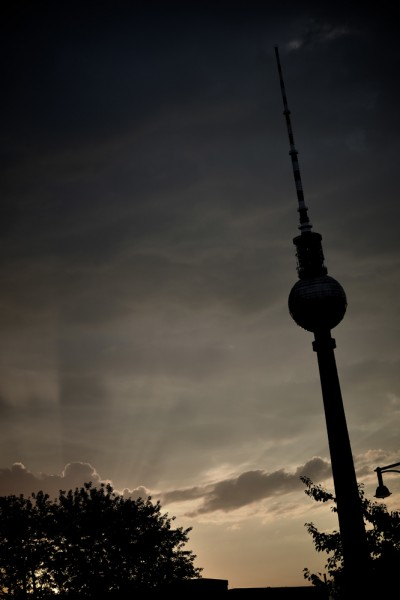 web berlin tower and sunset