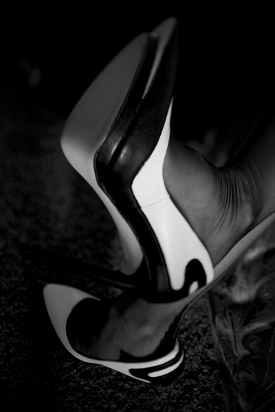 preview b and w high heels