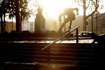 preview charles collet flip noseslide
