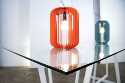 preview blurry lamp on table