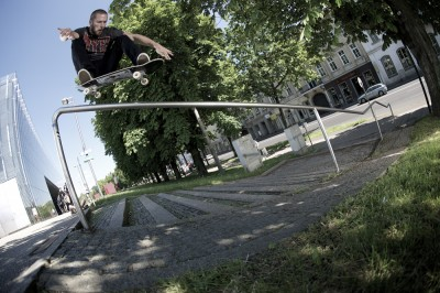 preview mickael germond ollie over rail linz fish eye