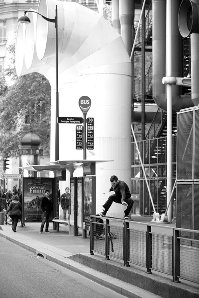 preview edouard doudou fs tailslide pompidou BIS b and w
